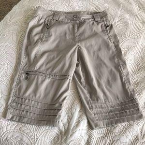 DKNY Golf Cargo Shorts, zipper pockets galore